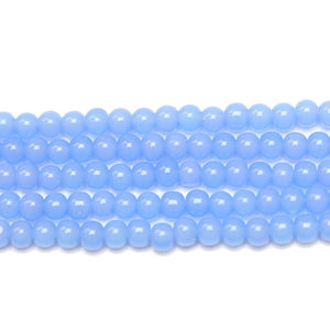 Light Blue Glass Round 4mm Beads by Halcraft Collection