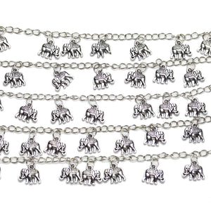 Bead, Beads, Metal, Metal Bead, Metal Beads, Silver Plated, Silver Plated Beads, Silver Plated Bead, Zinc Alloy, Silver, Elephant, Elephant Beads, Elephant Bead, 10x13mm, 10mm, 13mm, 33155, Antique Silver, Antique Silver Beads, Antique Silver Bead, Antique, Antiqued