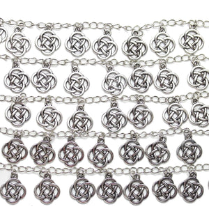 Bead, Beads, Metal, Metal Bead, Metal Beads, Silver Plated, Silver Plated Beads, Silver Plated Bead, Zinc Alloy, Silver, Celtic Knot, Celtic Knot Beads, Celtic Knot Bead, 16mm, 32780, Antique Silver, Antique Silver Beads, Antique Silver Bead, Antique, Antiqued
