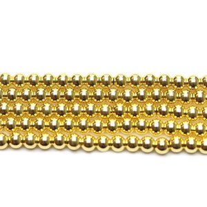 Gold Tone Plated Brass Round 4mm