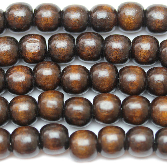 Brown Wood Round 12mm