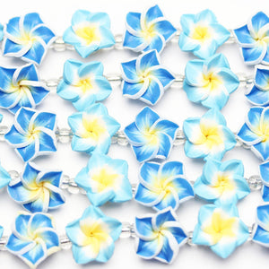 Blue Resin Flower 15mm