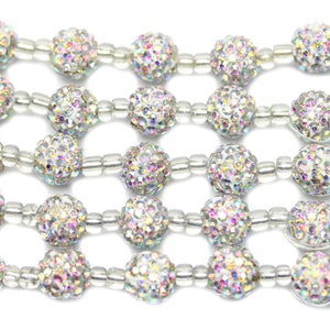 Crystal Rhinestone Ball 10mm Beads by Halcraft Collection