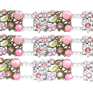 Slider, Sliders, Metal, Glass, Metal Sider, Glass Slider, Pink, Green, Bronze, Flower, Rectangle