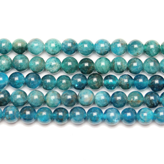 Semi Precious Natural Apatite Stone 6mm  Round