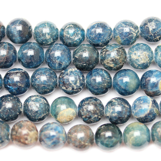 Semi Precious Natural Apatite Stone 10mm  Round