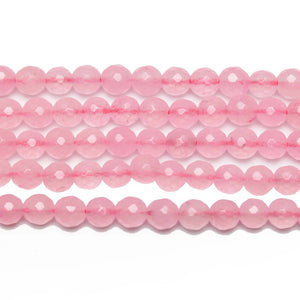 Pink Dyed Dolomite Stone Faceted Round 6mm