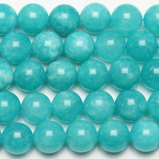 Aqua Dyed Dolomite Round 10mm Beads by Halcraft Collection