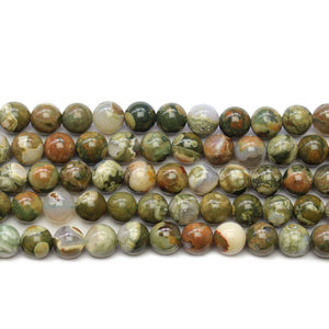 Polar Jade Stone Round 8mm BeadsBeads by Halcraft Collection