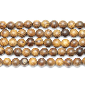 Brown Sandalwood Round 6mm Beads by Halcraft Collection