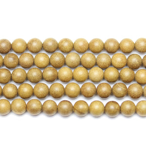 Round Wood 6mm  BeadsBeads by Halcraft Collection