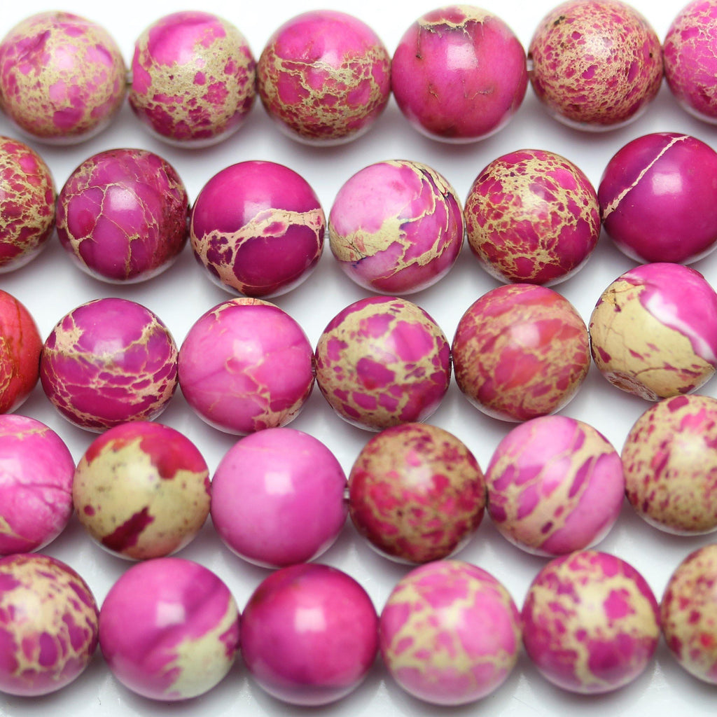 164193811ac Pink Dyed Imperial Jasper Round 8mm – Halcraft Collection - Owners    Creators of Bead Gallery!
