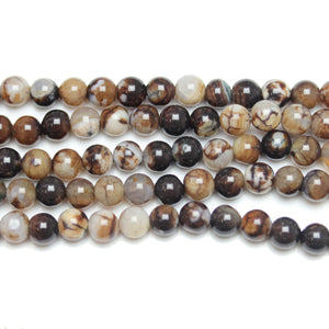 Bead, Beads, Semi-precious, Semiprecious, Stone Beads, Stone Bead, Round, Round Beads, Round Bead, Black, White, Dyed Agate, Agate, Dyed, 6mm