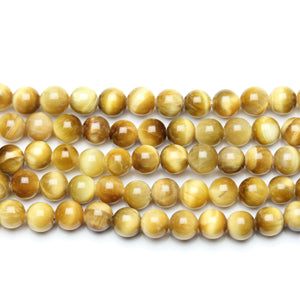 Golden Tiger Eye (B Grade) RoundBeads by Halcraft Collection
