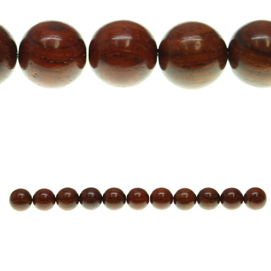 Costa Rican Rosewood Round 13mm Beads by Halcraft Collection