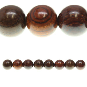 Costa Rican Rosewood Round 18mm Beads by Halcraft Collection