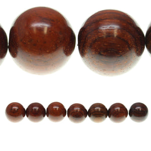 Costa Rican Rosewood Round 23mm Beads by Halcraft Collection