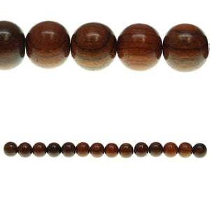 Costa Rican Rosewood Round 10mm Beads by Halcraft Collection