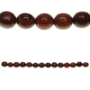 Costa Rican Rosewood Round 8mmBeads by Halcraft Collection