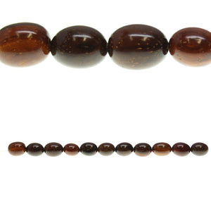 Costa Rican Rosewood Oval 10x13mm Beads by Halcraft Collection