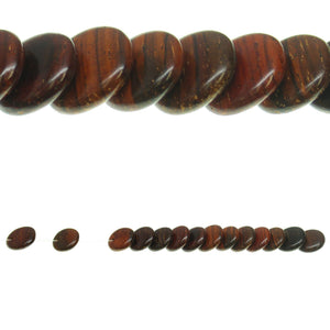 Costa Rican Rosewood Offset Hole Lentil 13mm