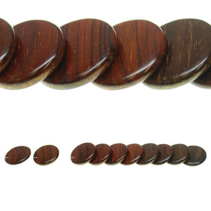 Costa Rican Rosewood Offset Top Hole Lentil 23mm