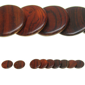 Costa Rican Rosewood Offset Top Hole Lentil 28mm