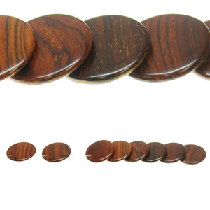 Costa Rican Rosewood Offset Top Hole Lentil 29mm