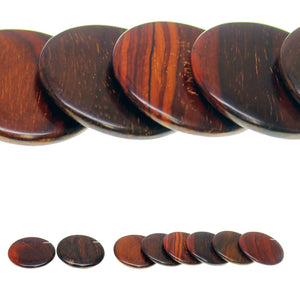 Costa Rican Rosewood Offset Hole Lentil 34mm