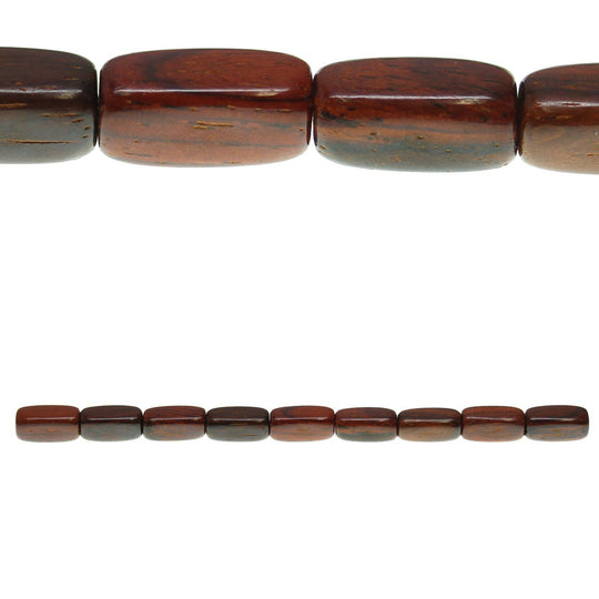 Costa Rican Rosewood Tube 7x17mm Beads by Halcraft Collection