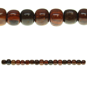 Costa Rican Rosewood Spacer 5x7mm Beads by Halcraft Collection