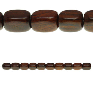 Costa Rican Rosewood Tube 10x14mm Beads by Halcraft Collection