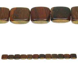Costa Rican Rosewood Square 14mm Beads by Halcraft Collection