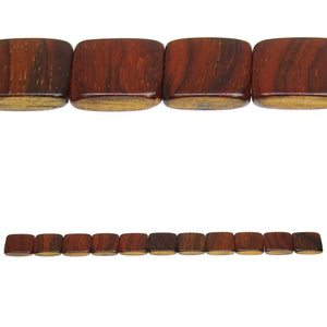 Costa Rican Rosewood Square 18mm Beads by Halcraft Collection