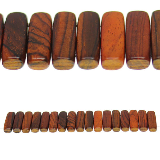 Costa Rican Rosewood 2 Hole Spacer 6x24mm Beads by Halcraft Collection