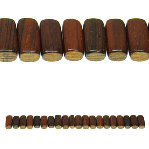 Costa Rican Rosewood 2 Hole Spacer 7x15mm Beads by Halcraft Collection