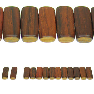 Costa Rican Rosewood 2 Hole Spacer 9x24mm Beads by Halcraft Collection