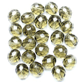 Smoky Glass Czech Round Fire Polished Faceted 10mm