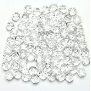 Crystal Glass Czech Round Fire Polished Faceted 6mm