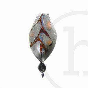 Leaf Lampwork Glass Multi 35mm Pendant by Bead Gallery