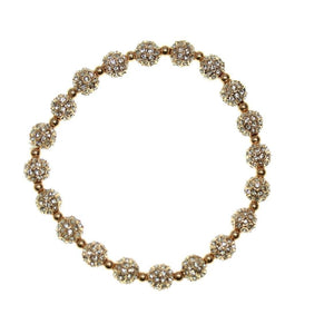 Crystal Glass and Rose Gold Metal Pave 8mm
