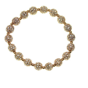 Crystal Glass and Rose Gold Metal Pave 6mm Bracelets by Bead Gallery