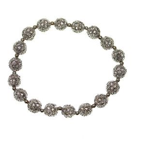 Crystal Glass and Silver Plated Metal Pave 8mm Bracelets by Bead Gallery