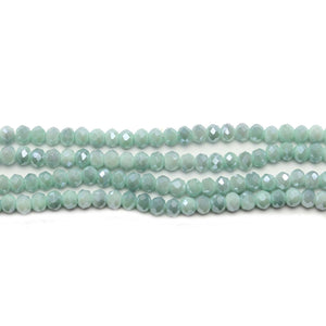 Moss Green Opaque Faceted Glass Rondell 2x3mmBeads by Halcraft Collection