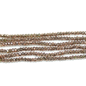 Copper Iris Faceted Glass Rondell 1.6x2.5mm Beads by Halcraft Collection