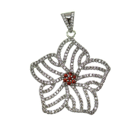 30mm, Crystal, Glass, Metal, Pendant, Red, Star, Stone, Stone Pendant