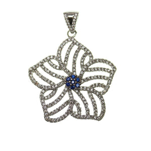 30mm, Blue, Crystal, Glass, Metal, Pendant, Sapphire, Star, Stone, Stone Pendant
