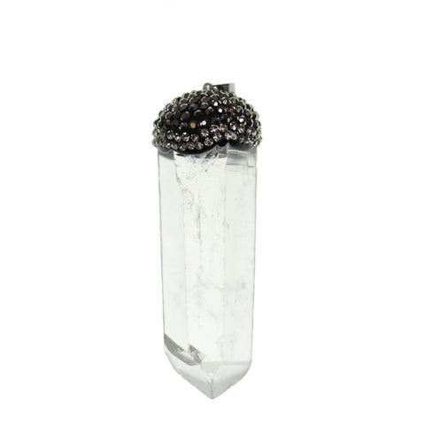 13mm, 20mm, 55mm, Crystal, Glass, Gunmetal, Pendant, Point, Quartz Crystal, Semi-precious, Semiprecious, Stone, Stone Pendant