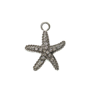 Crystal Rhinestone on Metal Starfish 18mm  - 2pcsCharm by Halcraft Collection