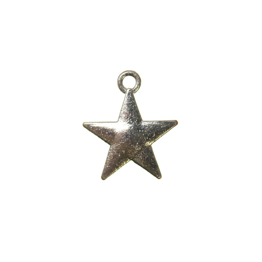 Silver Plated Star 15mm  - 2pcsCharm by Bead Gallery